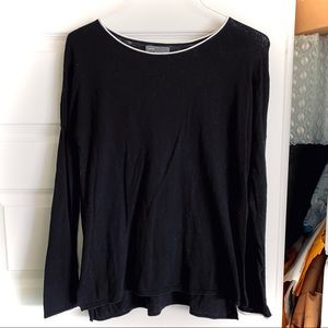 Vince Cashmere Blend Black Sweater